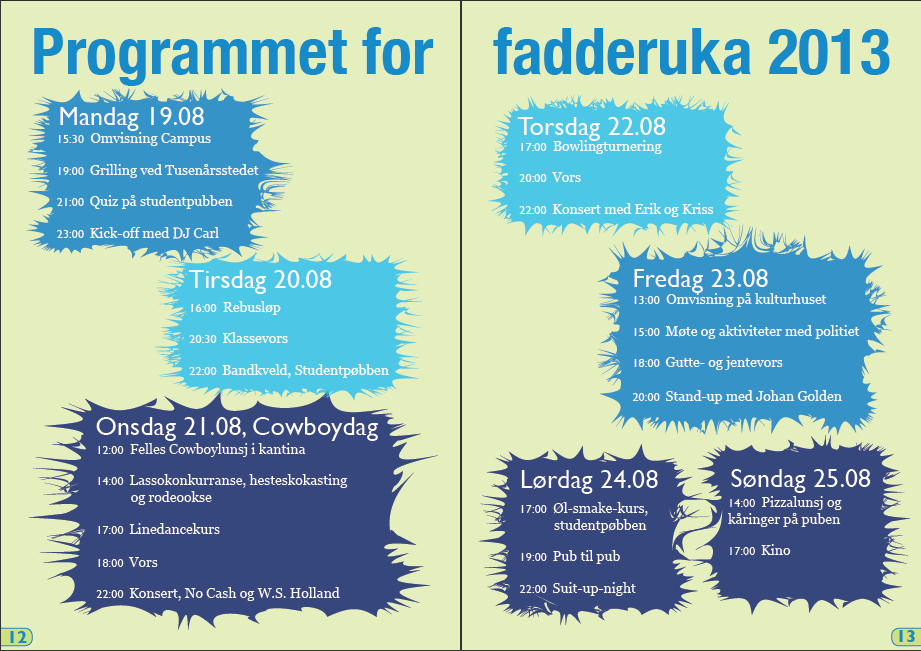 fadderuke program